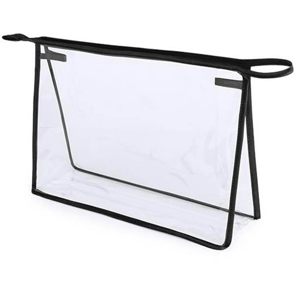 Geanta cosmetice transparenta - Contur Negru 0