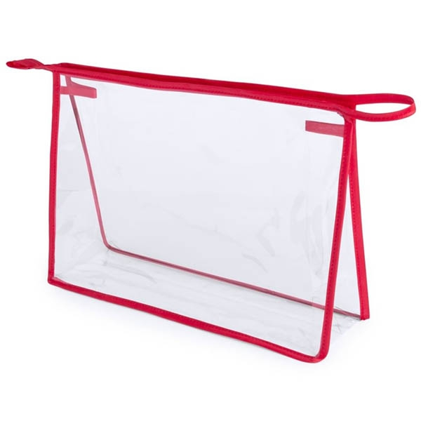 Geanta cosmetice transparenta - Contur Rosu 0
