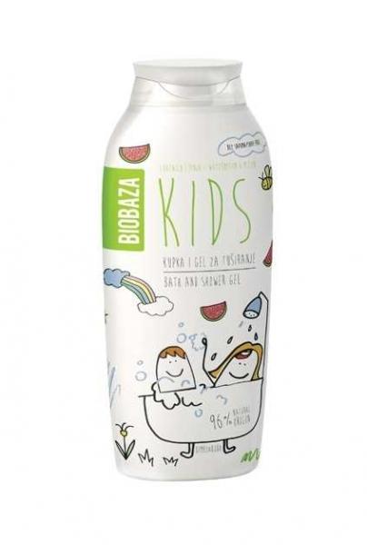 Gel de dus pentru copii cu aroma de pepene, 250 ml - BIOBAZA 0