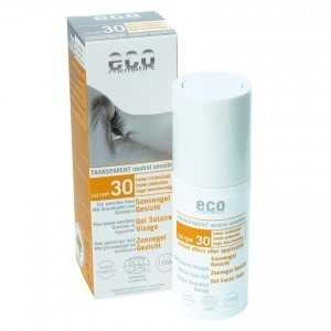 Gel facial transparent cu protectie solara inalta FPS 30 - Eco Cosmetics 0
