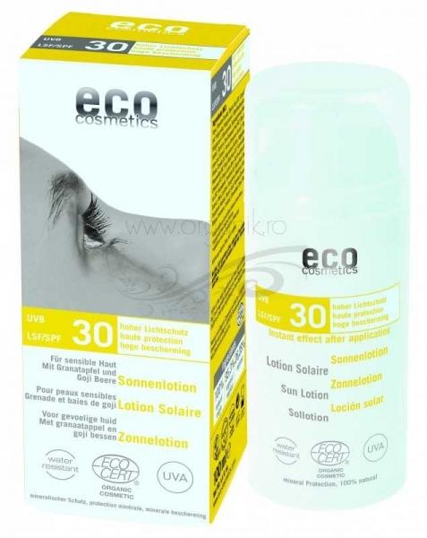 Lotiune fluida de protectie solara FPS 30 cu goji si rodie, 100 ml - Eco Cosmetics 0