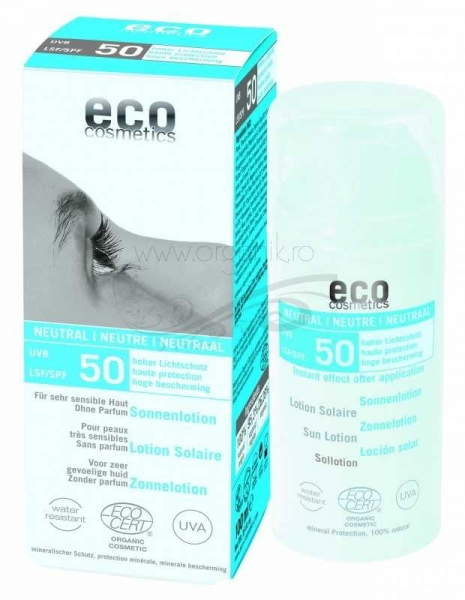 Lotiune fluida de protectie solara FPS 50 FARA PARFUM, 100 ml - Eco Cosmetics 0