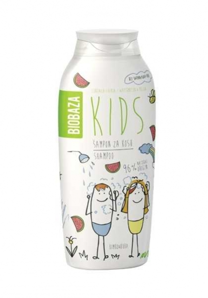 Sampon natural pentru copii cu aroma de pepene, 250 ml - BIOBAZA 0