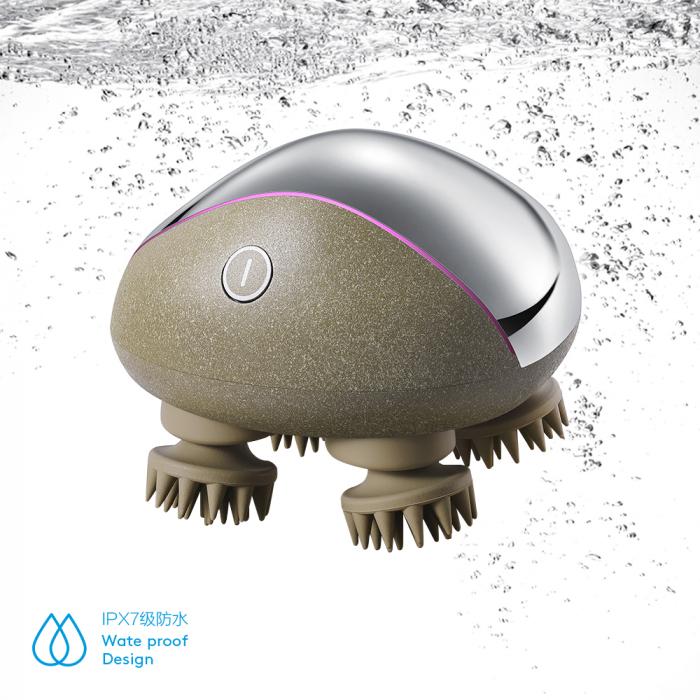 Dispozitiv masaj pentru scalp incarcare wireless - cu baza 4