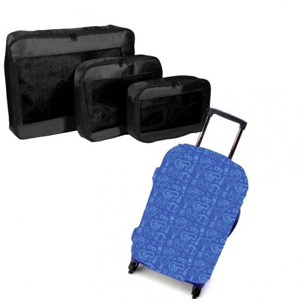 Set travel - Packing cubes si Husa troler 0
