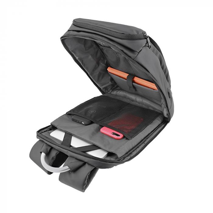 """Rucsac laptop Tellur Business L, cu port USB, 17.3"""", negru [3]"""