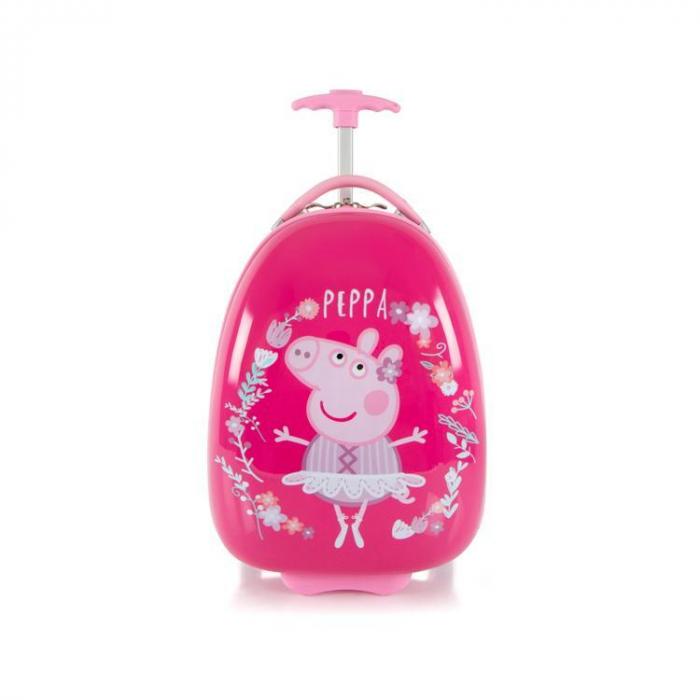 Troler Copii Heys Peppa Pig Pink 46 cm - ABS [0]
