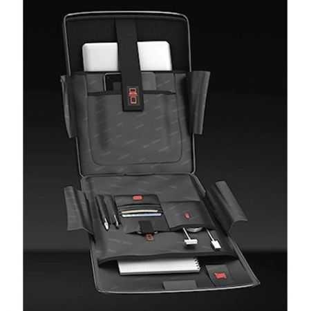 Troler Laptop Roncato Double, Negru/Lime 3