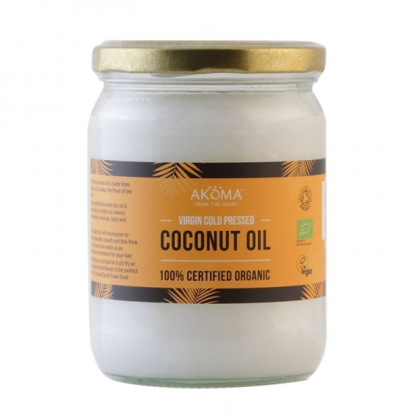 Ulei de cocos virgin certificat organic, presat la rece, 500 ml - Akoma Skincare 0