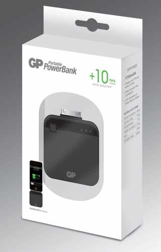 Acumulator portabil powerbank 1750mAh, negru, GP 5