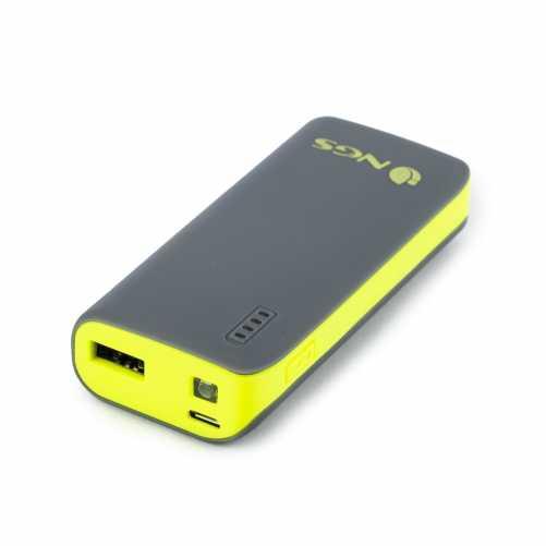 Acumulator portabil powerbank 4000mAh 5V 1A, negru/galben 0
