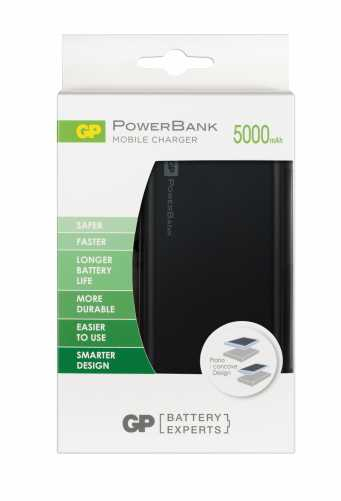 Acumulator portabil powerbank 5000mAh , negru, GP 4