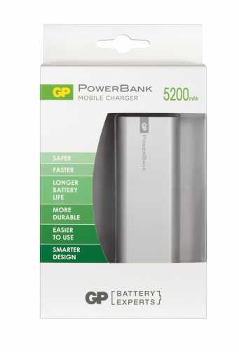 Acumulator portabil powerbank 5200mAh, argintiu, GP 2
