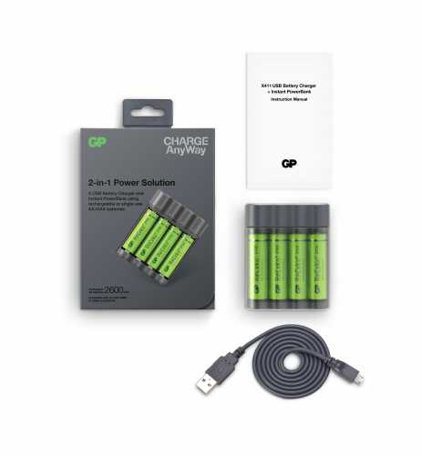 Acumulator portabil powerbank Charge Anyway 4 x 2700mAh, GP 5