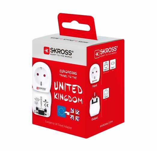 Adaptor priza EU ->UK Skross 2