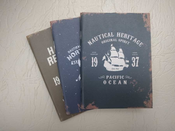 Notebook 24 file motive Navy Nautical - Heritage 0