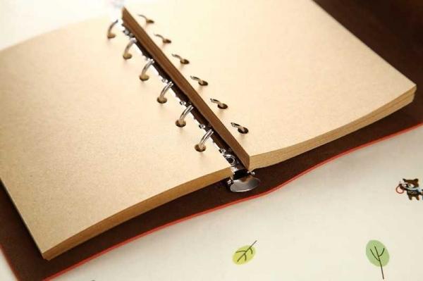 Agenda/Notebook Vintage de calatorie piele ecologica maro deschis 1