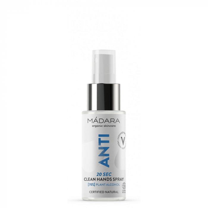 ANTI 20 SEC CLEAN HANDS Spray igienizant (70% alcool) 50ml Madara inbagaj 0