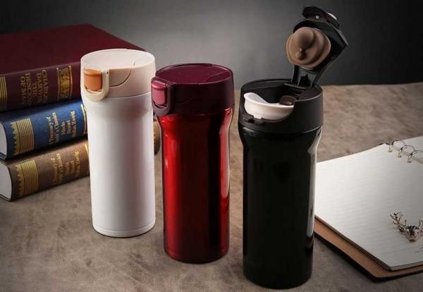 Cana cafea de calatorie 350 ml, termoizolanta - Alb 9