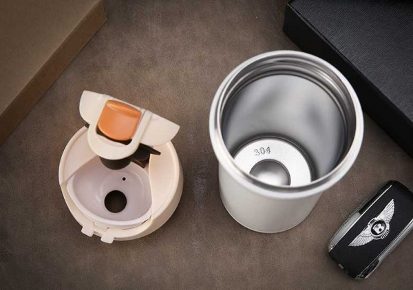 Cana cafea de calatorie 350 ml, termoizolanta - Alb 6