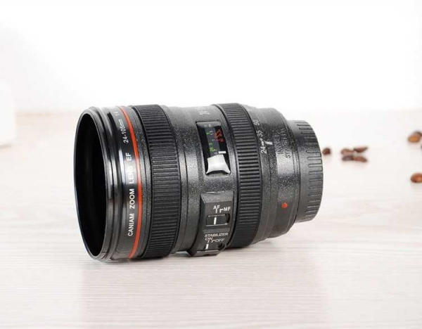 Cana obiectiv aparat foto - Negru - Plastic 0