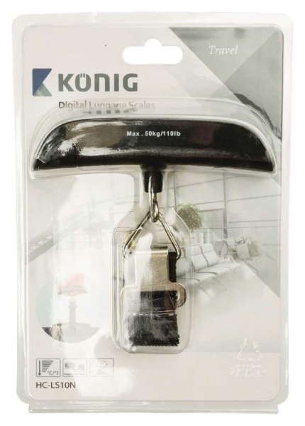 Cantar digital pentru bagaje, Konig, 50kg 2
