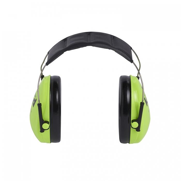 Casti antifonice pentru copii Peltor verde-neon 4