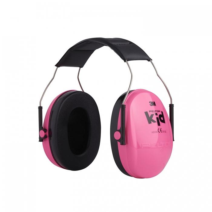 Casti antifonice pentru copii Peltor roz-neon 0