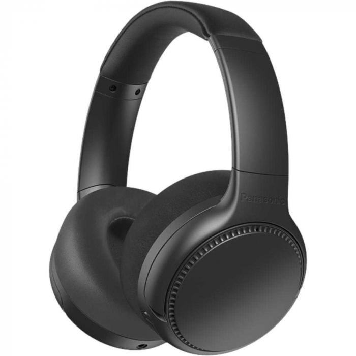 Casti PANASONIC RB-M500BE-K, Extra Bass Wireless, Bass Reactor, around-Ear, negru 2