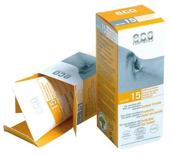 Crema bio protectie solara FPS15, 75 ml - Eco Cosmetics 0