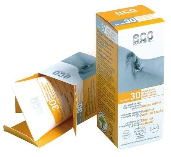 Crema bio protectie solara inalta FPS 30, 75 ml - Eco Cosmetics 0