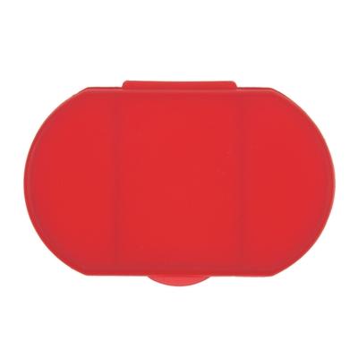 Cutie semitransparenta de pastile, 3 compartimente - Rosu 1