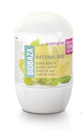 Deodorant cu bicarbonat piele sensibila DIVINE (salvie si struguri) - BIOBAZA Inbagaj 0