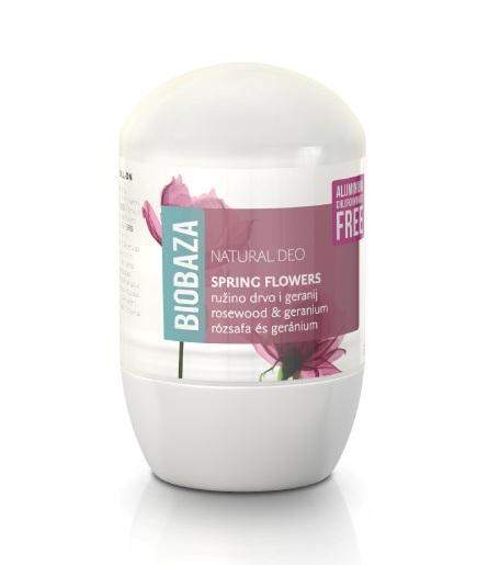 Deodorant natural pentru femei SPRING FLOWERS (trandafiri si geranium) - BIOBAZA Inbagaj [0]