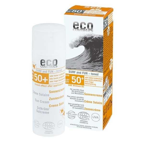 Crema bio cu protectie solara FPS 50+ extra-rezistenta la apa, SURF & FUN - Eco Cosmetics 0