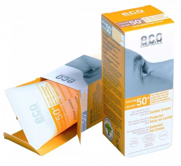 Crema bio cu protectie solara inalta FPS 50+ , nuantata  -  Eco Cosmetics 0