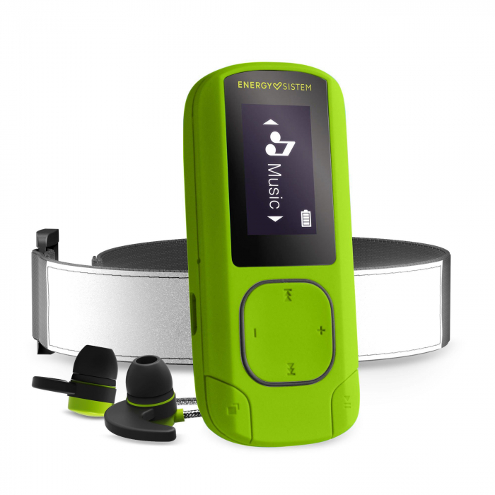 MP3/MP4 Player Energy Sistem Greestone 16GB, BRATARA FITNESS INCLUSA, casti sport 0