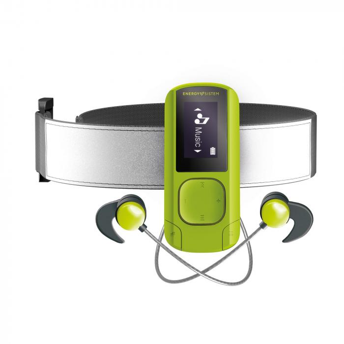 MP3/MP4 Player Energy Sistem Greestone 16GB, BRATARA FITNESS INCLUSA, casti sport - Resigilat 1