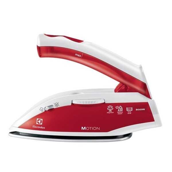 Fier de calcat pentru voiaj ELECTROLUX Motion EDBT800, Inox, 800W, alb - rosu