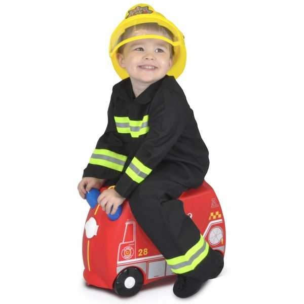 Valiza TRUNKI FRANK - Masina de Pompieri Rosu 3