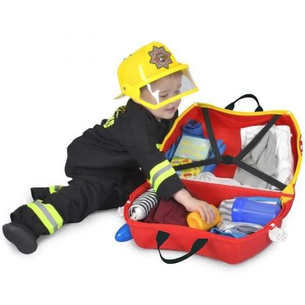 Valiza TRUNKI FRANK - Masina de Pompieri Rosu 4