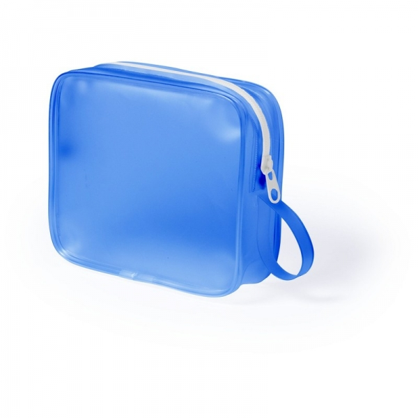 Geanta cosmetice translucenta bleu 0
