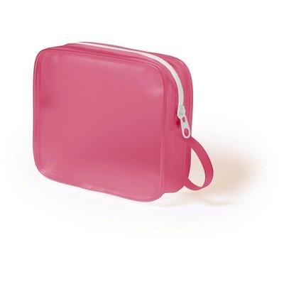 Geanta cosmetice translucenta roz 0