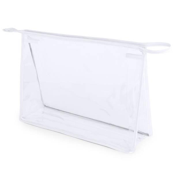 Geanta cosmetice transparenta - Contur Alb 0