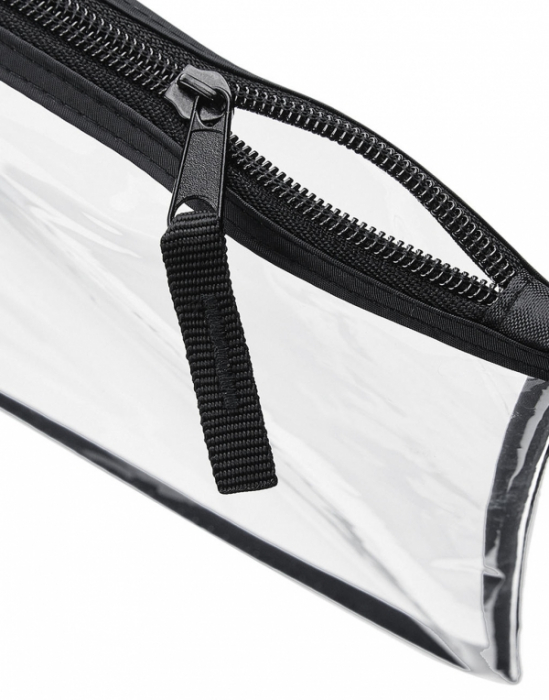 Geanta cosmetice transparenta cu fermoar - Contur Negru 1
