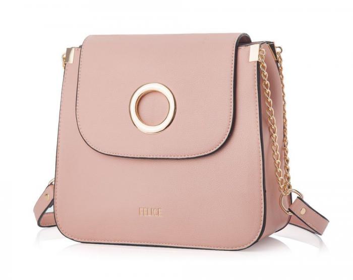 Geanta de umar Felice FB42 roz pudrat 0