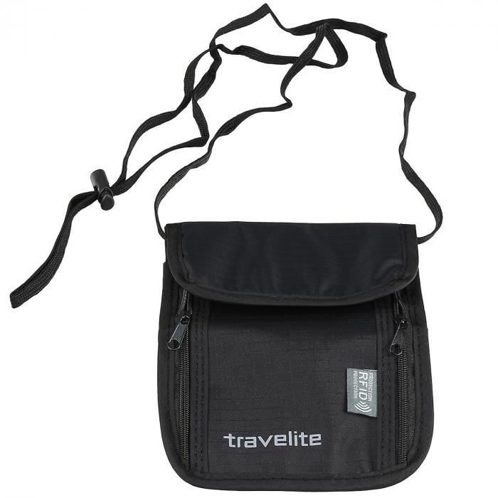 Geanta-portofel Travelite cu protectie RFID - Negru 0