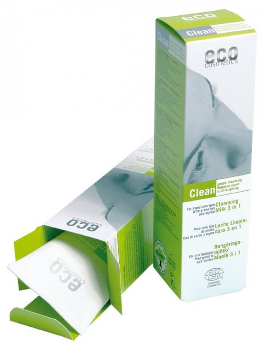 Demachiant bio 3 in 1 cu ceai verde, pentru toate tipurile de ten - Eco Cosmetics inbagaj 0