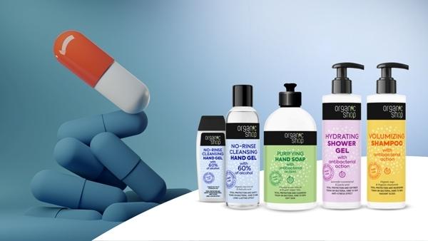 Gel de dus hidratant cu efect antibacterian, lavanda si acid lactic, 280ml - Organic Shop 1