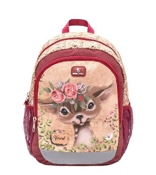 Ghiozdan de gradinita  BELMIL Kiddy Plus Animal Forest Bambi 1
